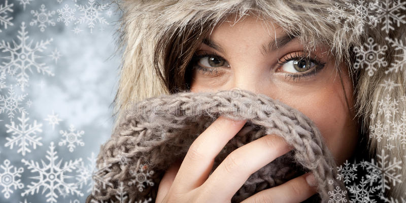 Mode d'hiver image stock