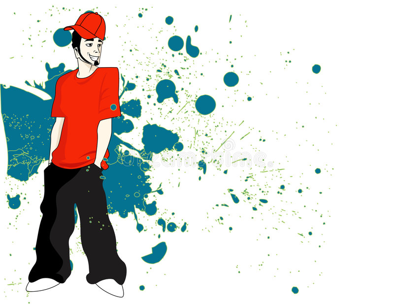 Mode d'houblon de gratte-cul de jeune homme illustration libre de droits