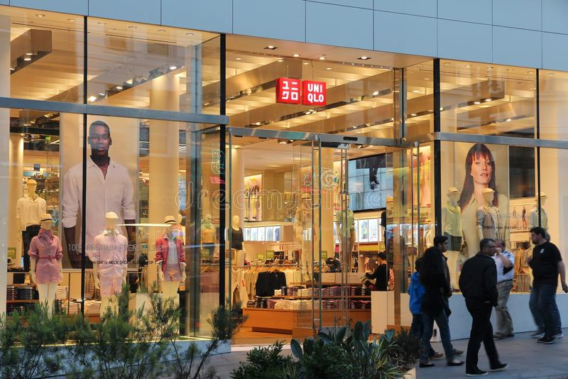 Mode d'Uniqlo images libres de droits