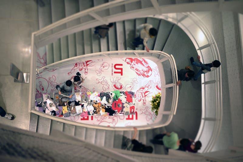 Mode d'Uniqlo, stairsway, Tokyo, Japon images libres de droits