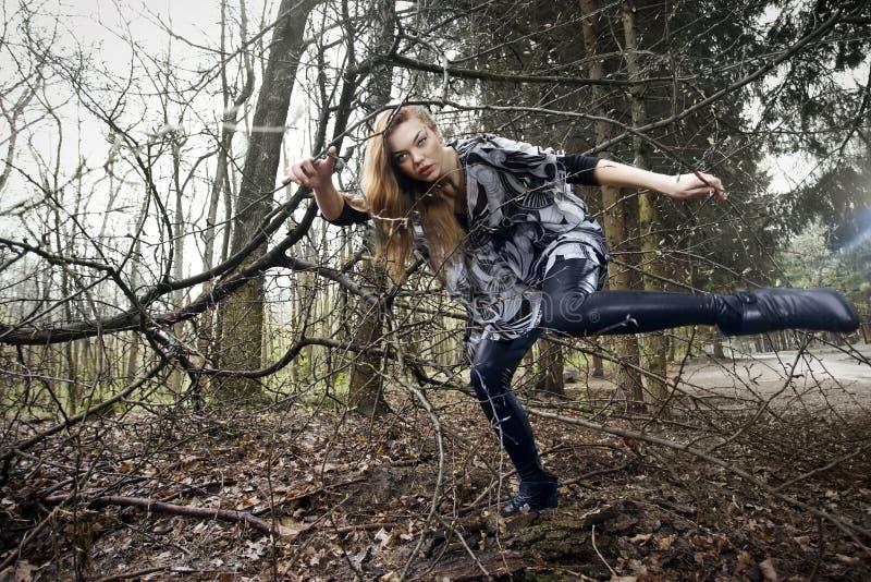 Mode dans la forêt photographie stock libre de droits