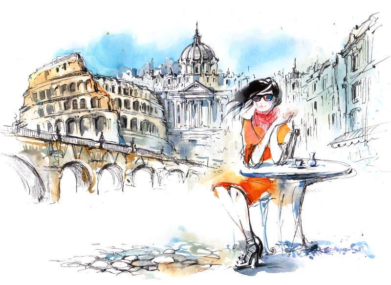Mode dans la ville illustration stock
