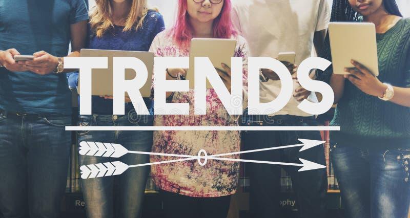 Mode de conception de tendances lançant le nouveau concept sur le marché de style photo stock