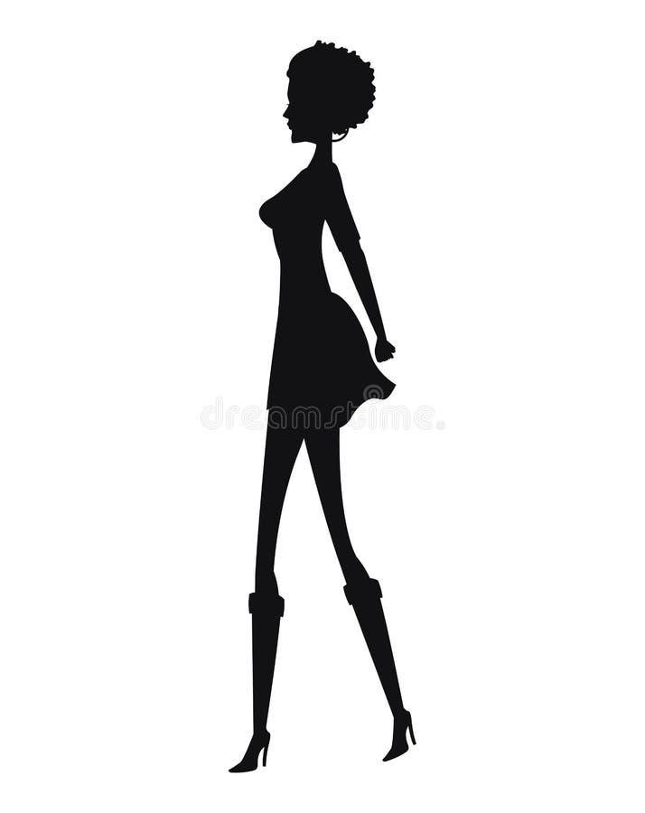 Mode de femme de silhouette mince illustration libre de droits