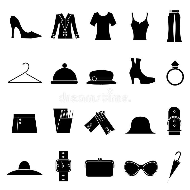 Mode de femme et graphismes de vêtements illustration de vecteur