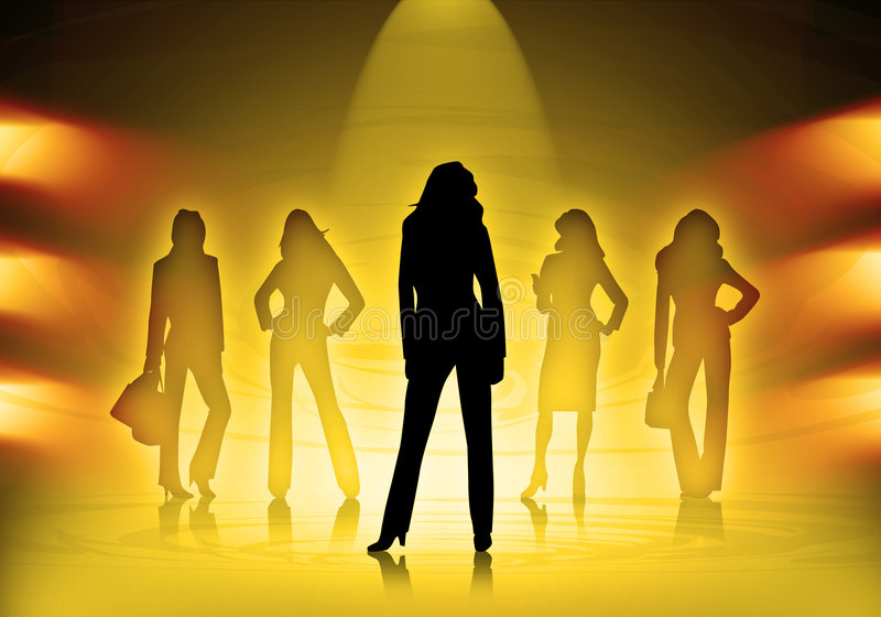 Mode de femmes d'affaires illustration de vecteur