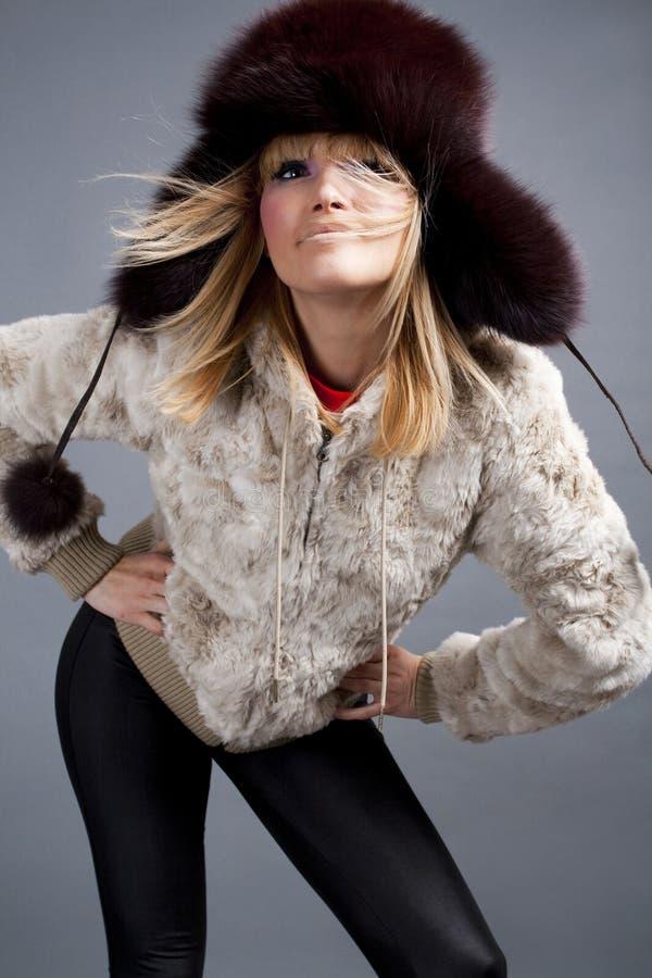 Mode de l'hiver photographie stock libre de droits