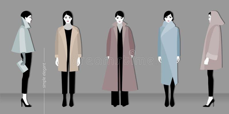 Mode de Minimalistic illustration stock
