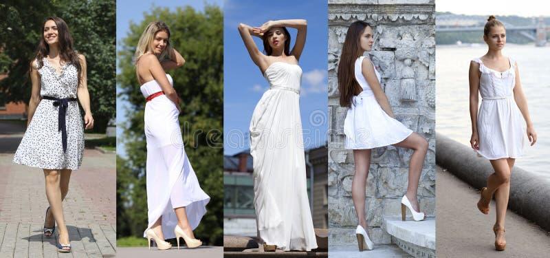 Mode de rue, belles jeunes femmes images stock