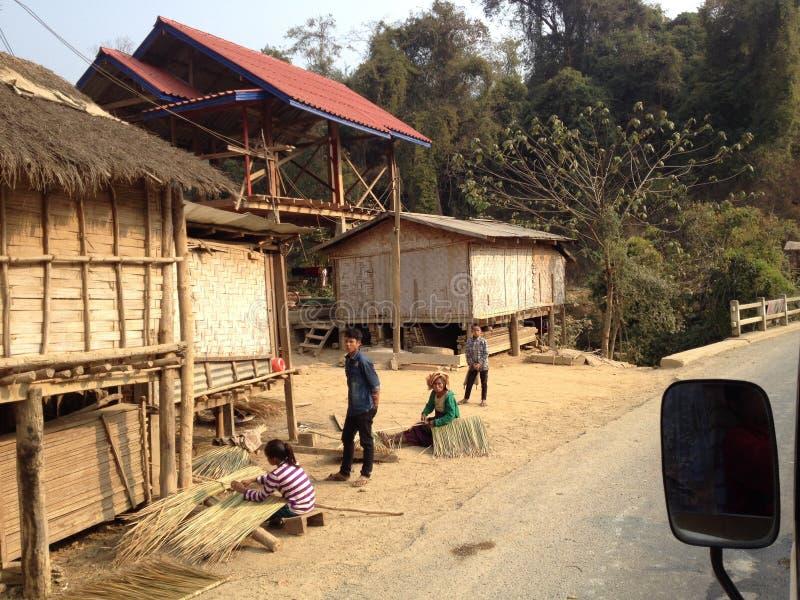 Mode de vie au Laotien photo stock