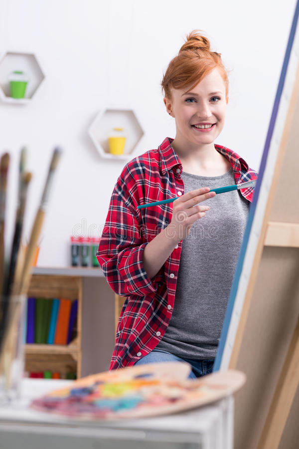 mode de vie d 39 un artiste illustration stock illustration du occasionnel 74213996. Black Bedroom Furniture Sets. Home Design Ideas