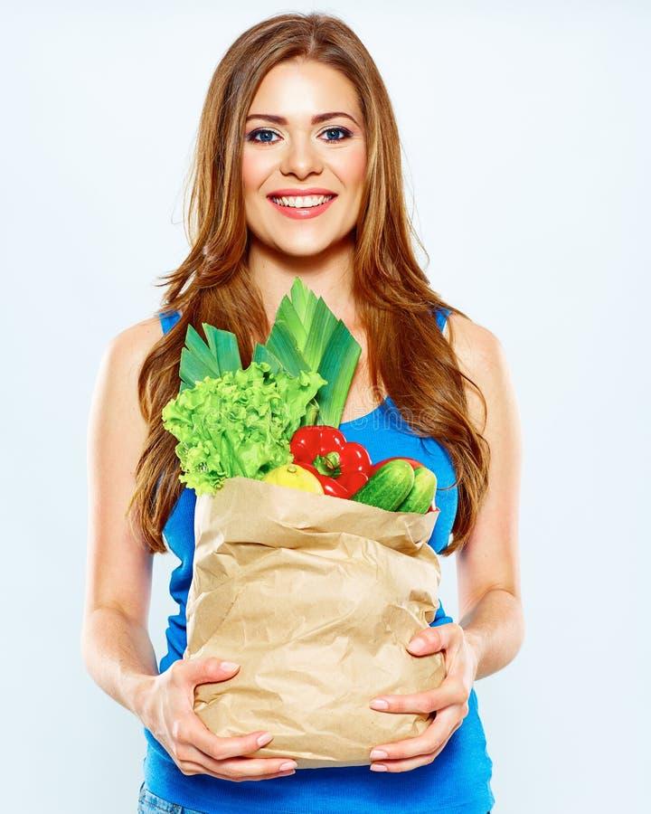 Mode de vie sain avec la nourriture verte de vegan image libre de droits