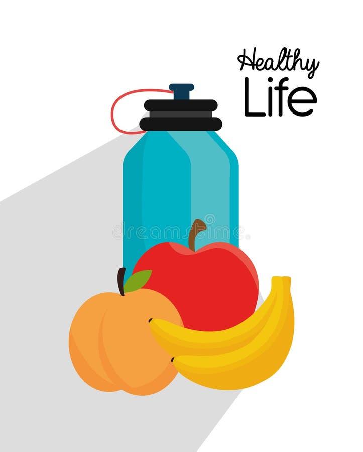 Mode de vie sain de forme physique illustration libre de droits