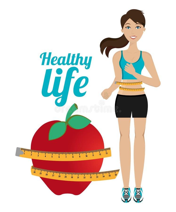 Mode de vie sain de forme physique illustration stock