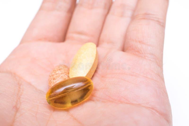 Mode de vie sain, médecine, suppléments nutritionnels et les gens images stock