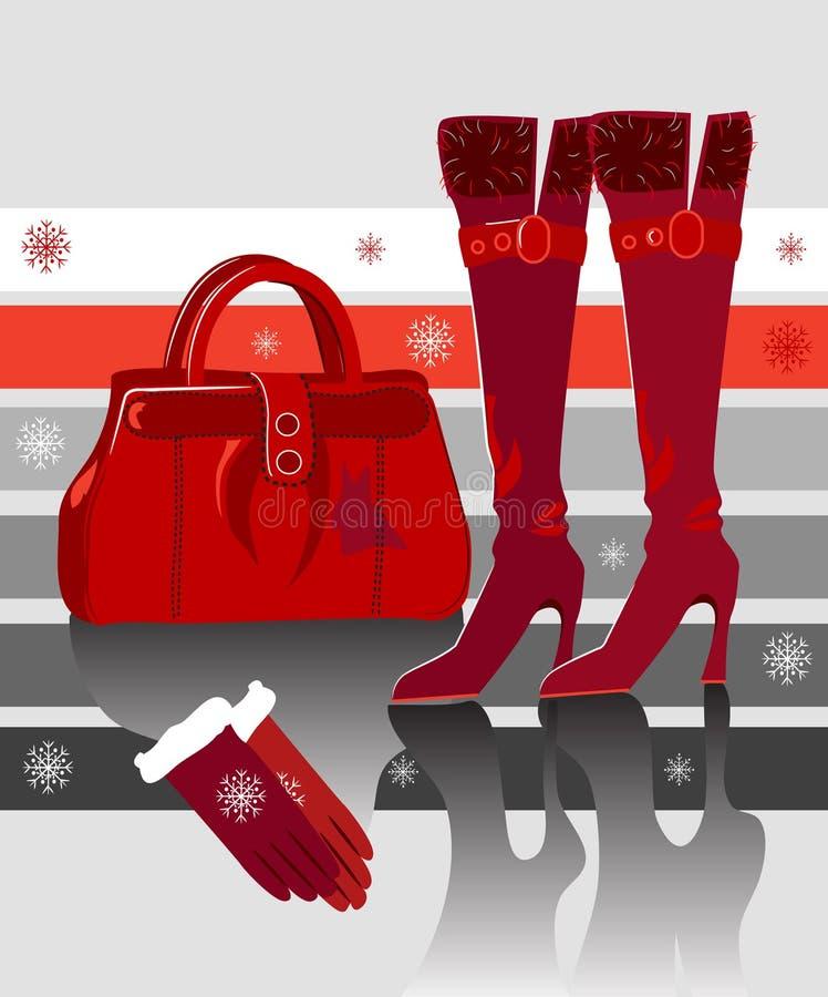 Download Mode di inverno illustrazione di stock. Illustrazione di donna - 3142838