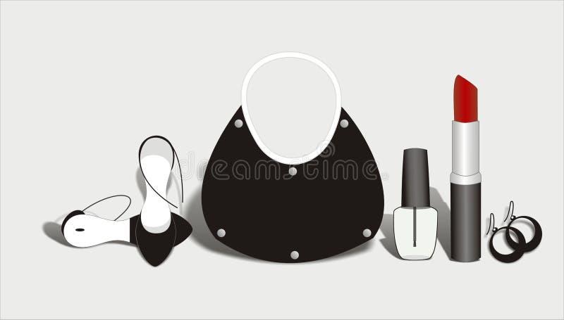 Mode et accessoires illustration stock