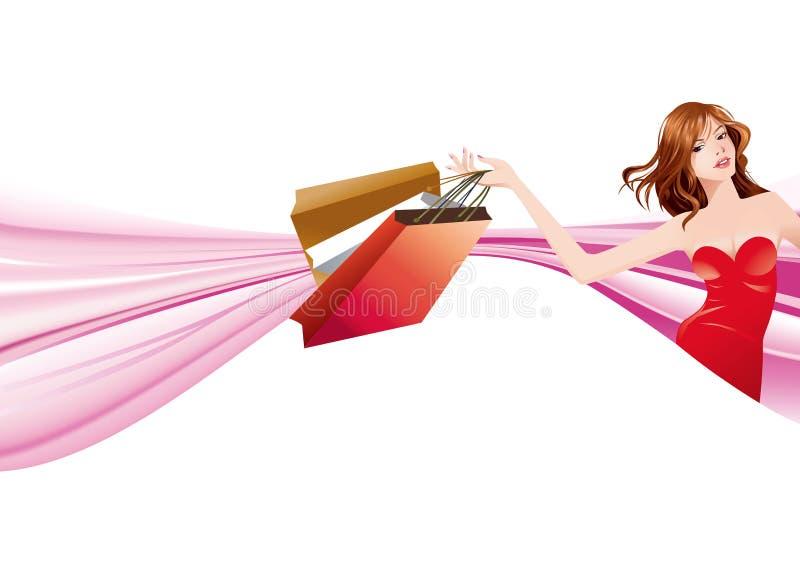 Mode et achats illustration de vecteur