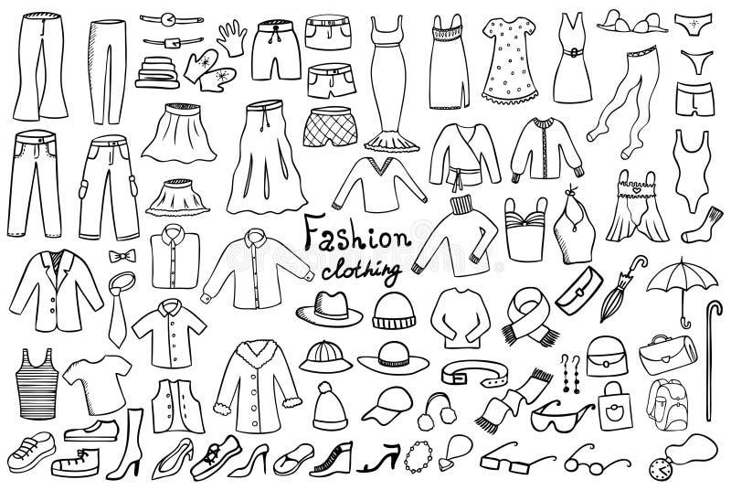 Mode et ramassage de vecteur de vêtement illustration de vecteur