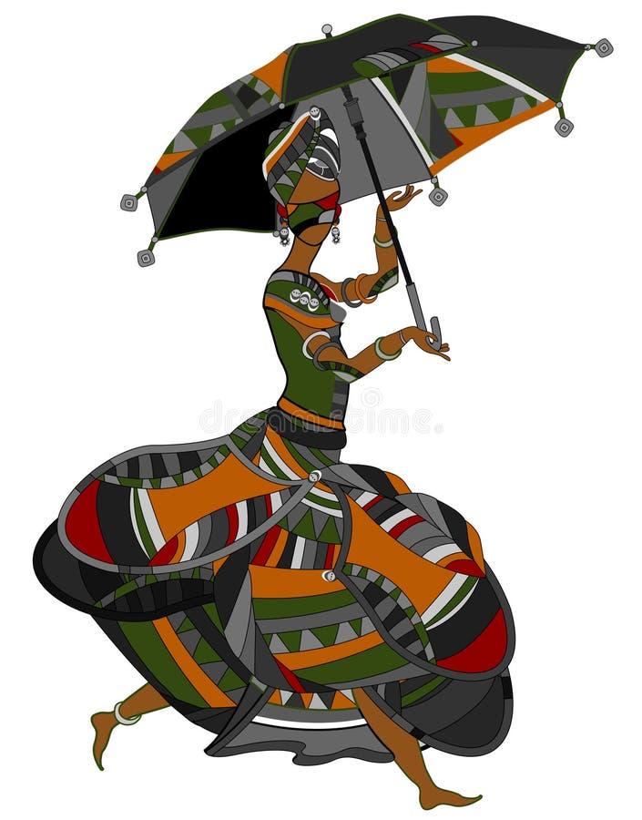 Mode ethnique illustration stock