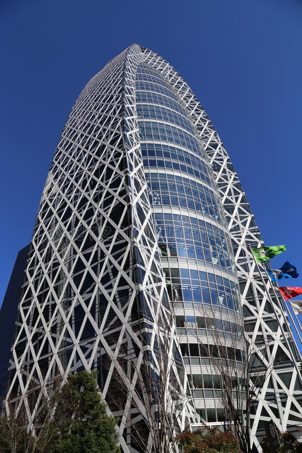 Mode Gakuen Cocoon Tower. Is a 204-metre (669 ft), 50-story educational facility located in the Nishi-Shinjuku district in Shinjuku, Tokyo, Japan. The building royalty free stock image