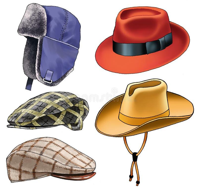 Mode golvny de crête-chapeau de chapeau de vêtement de chapeau illustration libre de droits