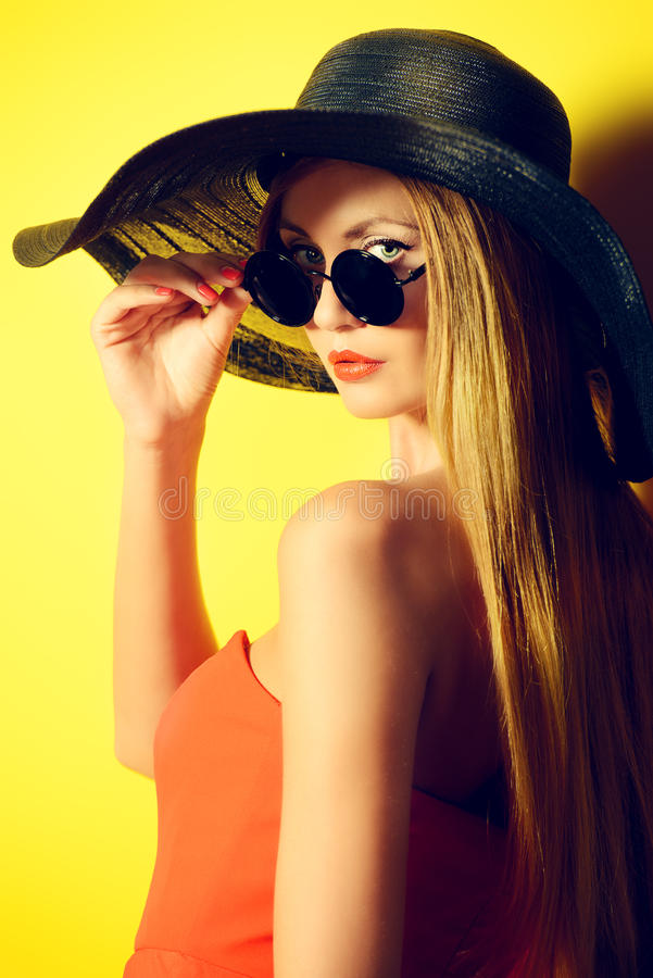 Mode jaune photographie stock