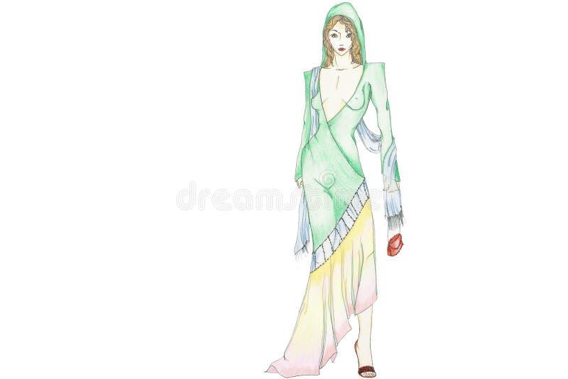 Mode marocaine illustration de vecteur