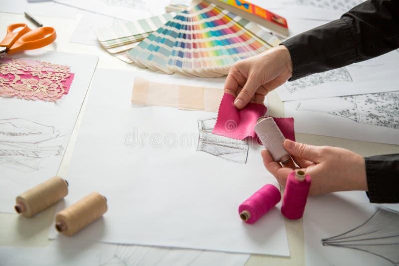 Mode oder Schneiderdesigner stockfoto