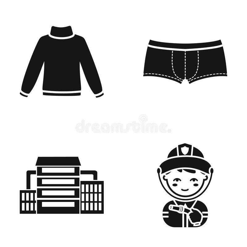 Mode, olje- förädling och eller rengöringsduksymbol i svart stil yrke som beklär symboler i uppsättningsamling stock illustrationer