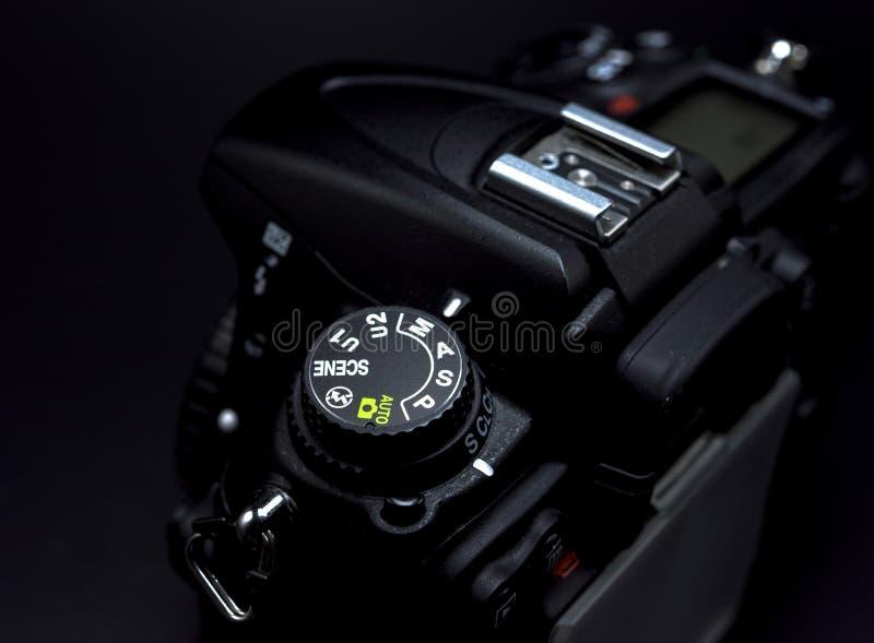Mode prioritaire de volet de cadran de mode d'appareil-photo image stock
