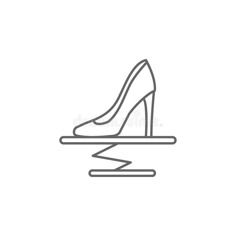 Mode, Schuhe, Eleganzikone Element von Paris-Ikone D?nne Linie Ikone f?r Websitedesign und Entwicklung, APP-Entwicklung vektor abbildung