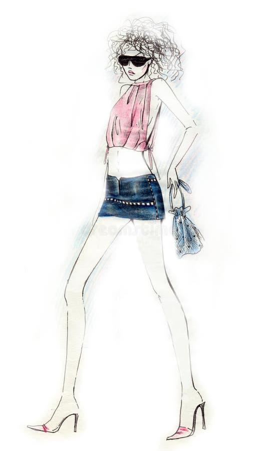 Mode sexy Illustraton de fille illustration stock