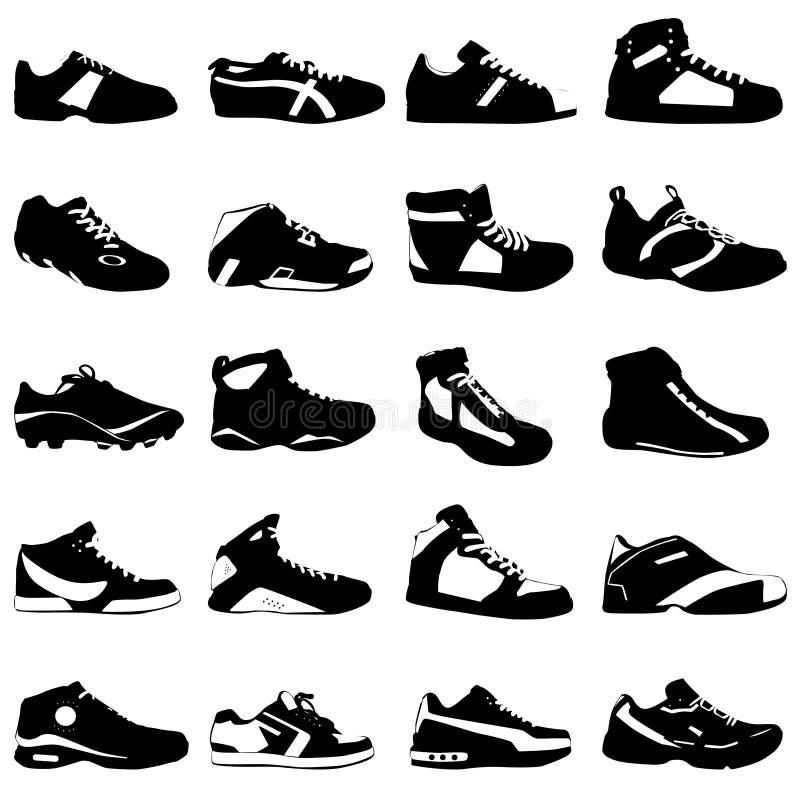 mode shoes sportvektorn royaltyfri illustrationer
