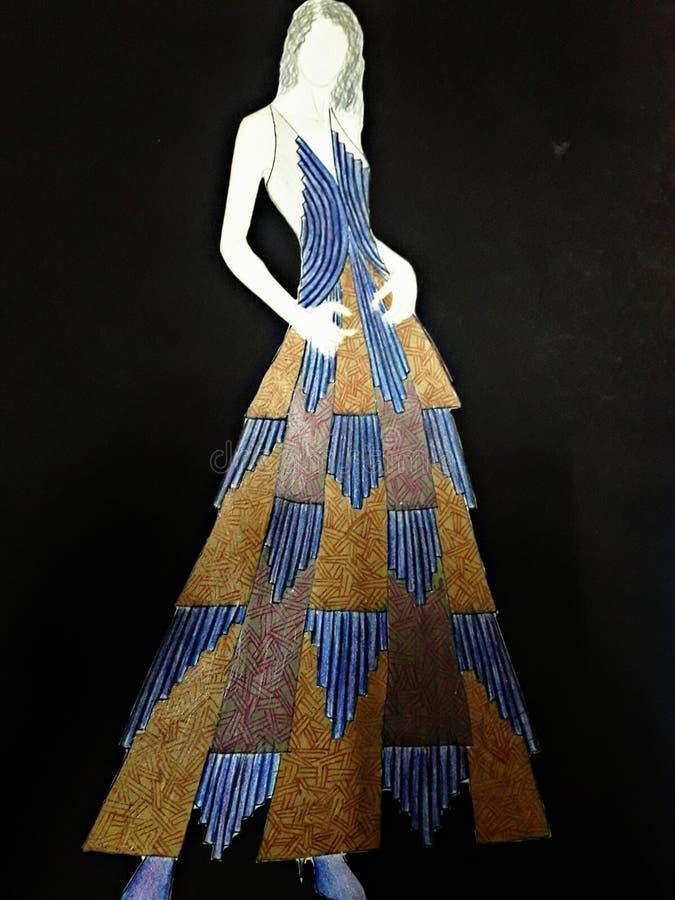 Mode skissar illustrationmäns kläder royaltyfria bilder