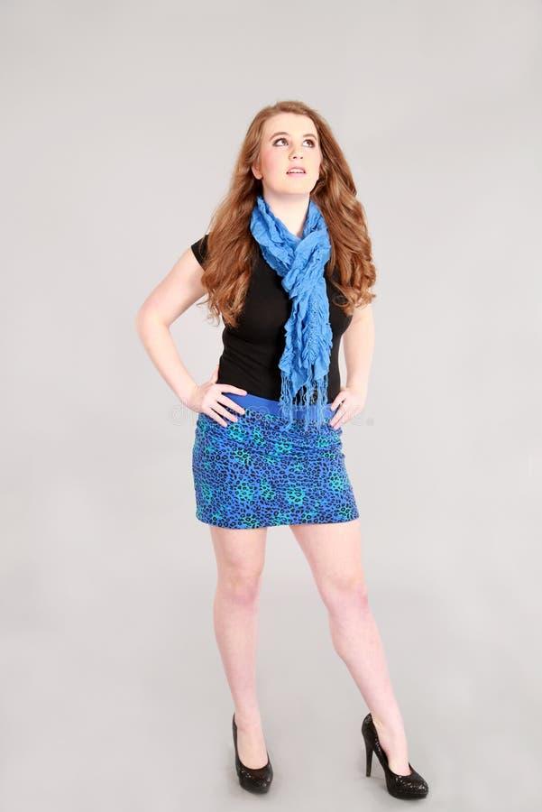 Mode som skjutas av tonårig flicka arkivfoton