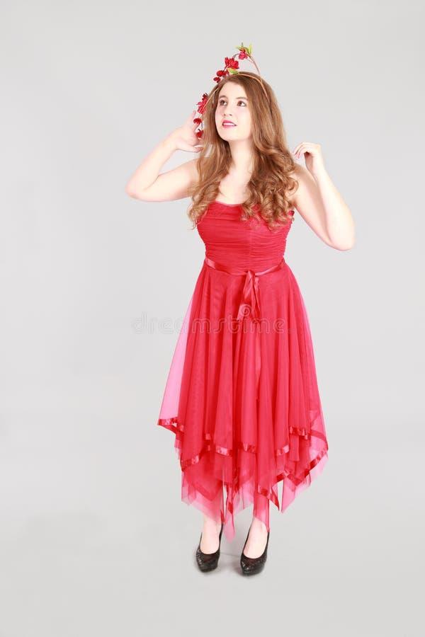 Mode som skjutas av tonårig flicka royaltyfri foto