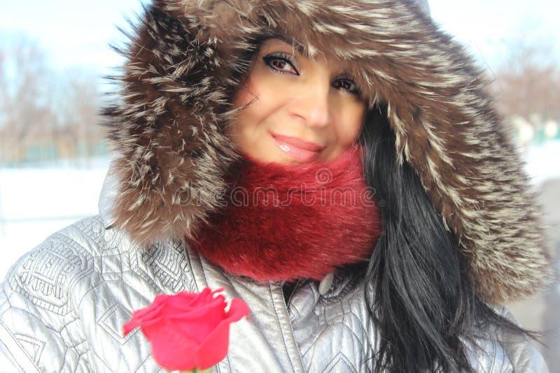 Mode-Winterfrau lizenzfreie stockbilder