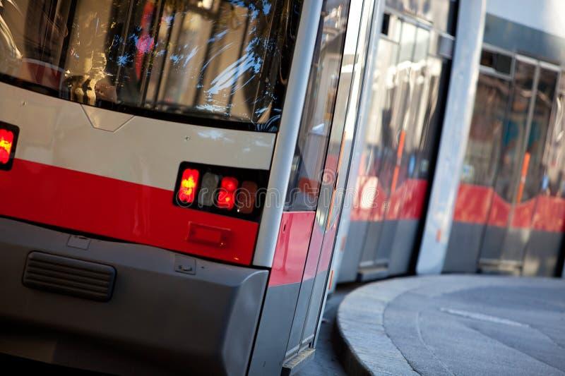 modean τραμ Βιέννη της Αυστρίας στοκ φωτογραφίες με δικαίωμα ελεύθερης χρήσης