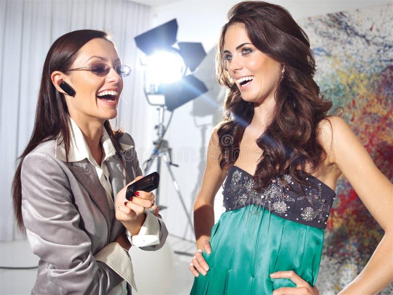 Modeatelierhaute couture royaltyfri foto