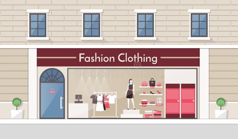 ModeBekleidungsgeschäft stock abbildung