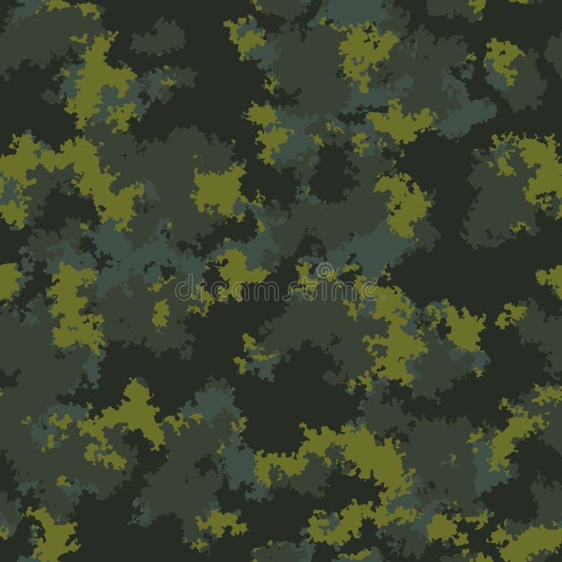 Modecamo Färgrik kamouflagevektormodell Sömlös tygdesign vektor illustrationer