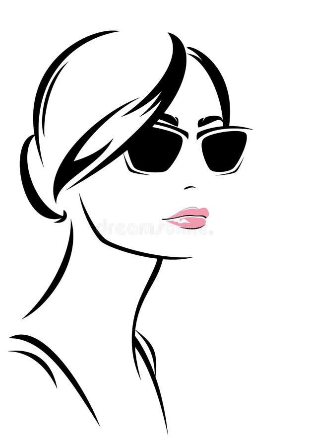 Modeflicka vektor illustrationer