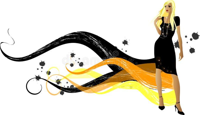 modeflickor royaltyfri illustrationer