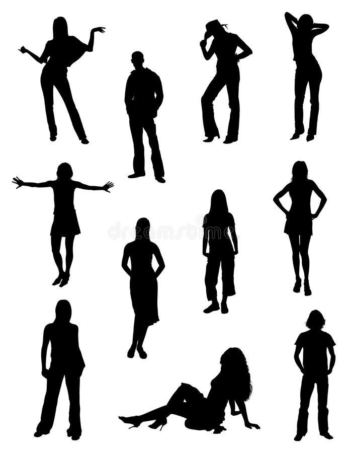 modefolk stock illustrationer