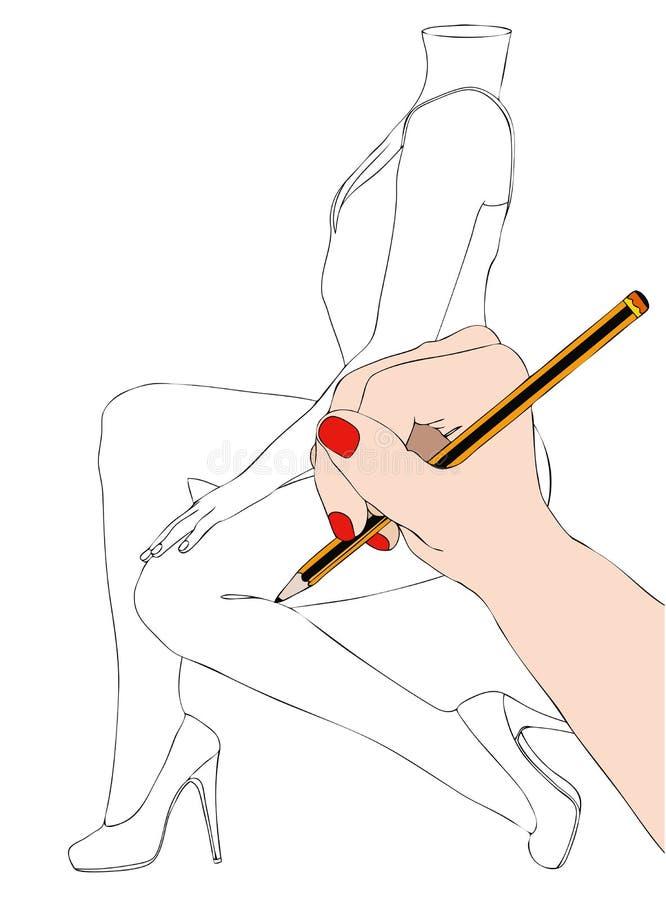 Modeformgivare royaltyfri illustrationer