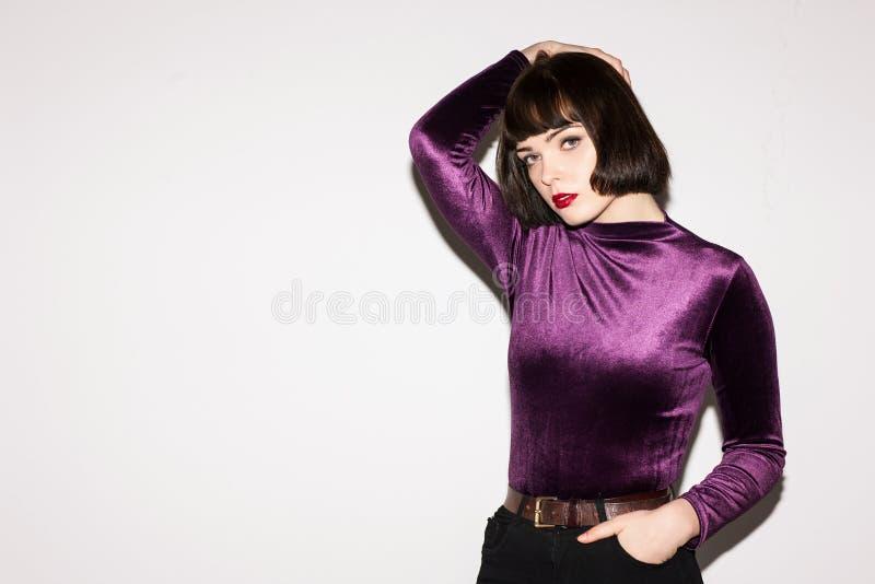 Modefotomodell Ung härlig lady royaltyfria bilder