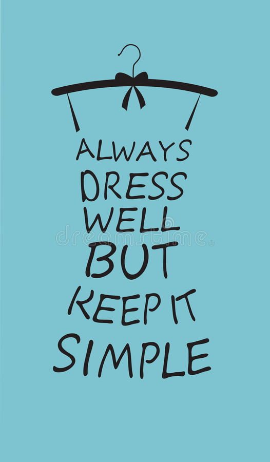 Modefrauenkleid vom Zitat lizenzfreie abbildung