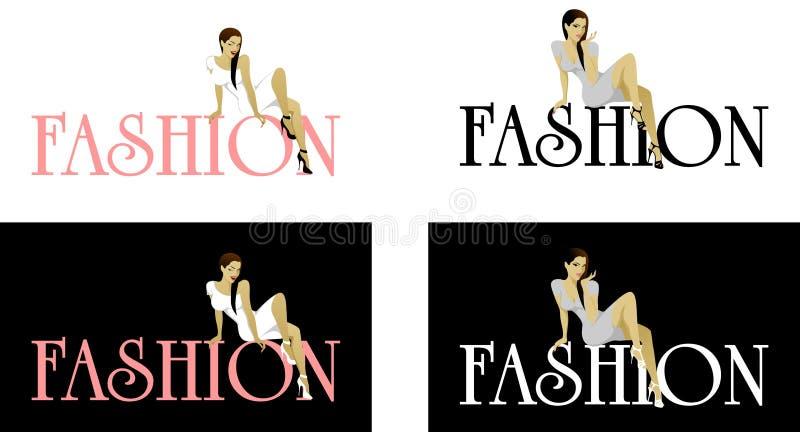 Modefraulogo lizenzfreie stockbilder
