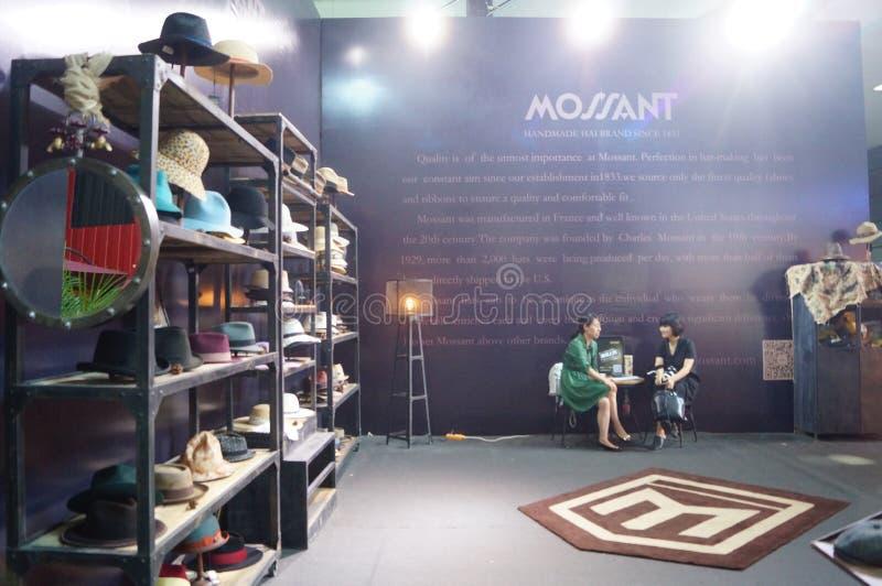 Modehut-Ausstellungsverkäufe stockfotografie